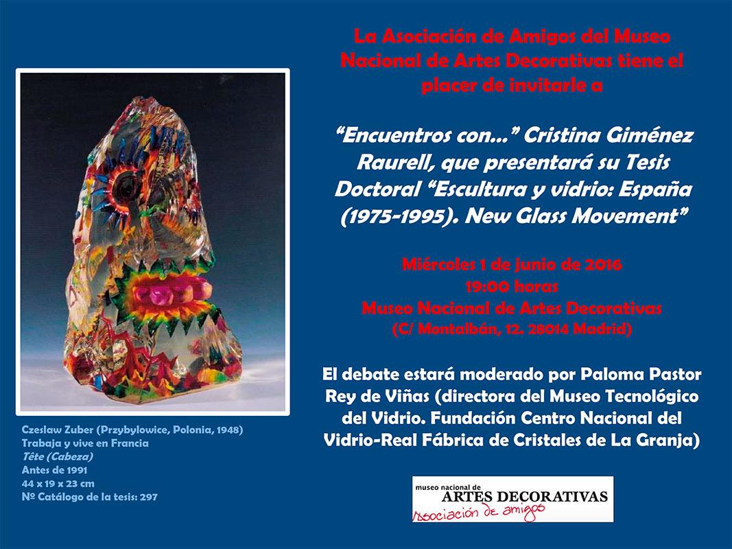 Cartel del Museo Nacional de Artes Decorativas