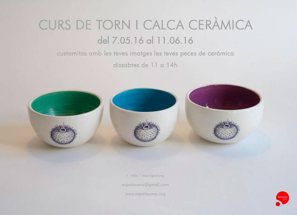 cartel del curso de cerámica de Espai Lauma