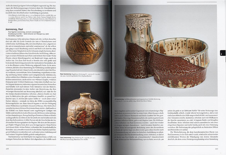 Páginas interiores del libro Franzosische Kunst-Keramik 1860-1920