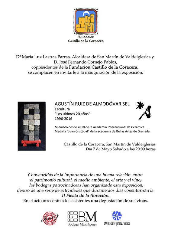 Cartel de la exposición de Agustín Ruiz de Almodovar