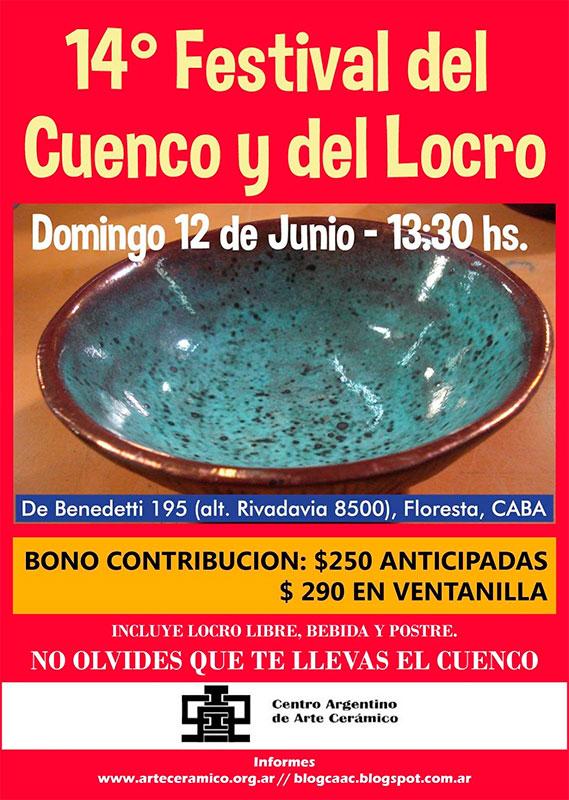 Cartel del evento del Cuenco y el Locro, en Argentina