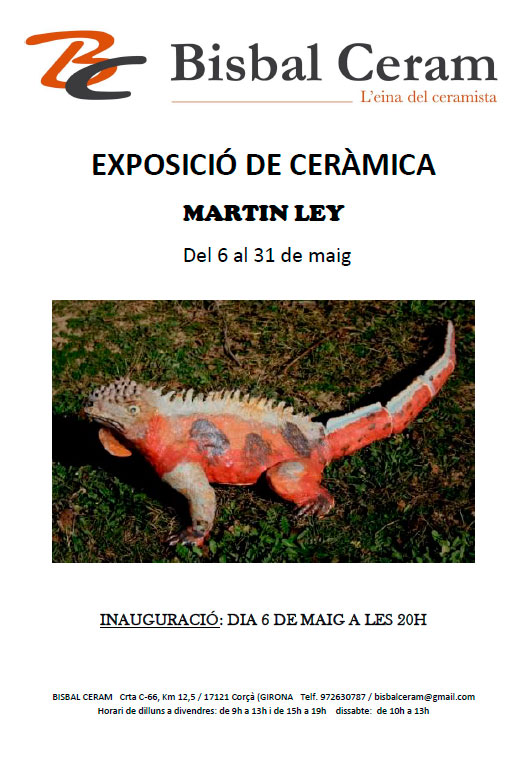 Cartel de la exposición de Marin Ley