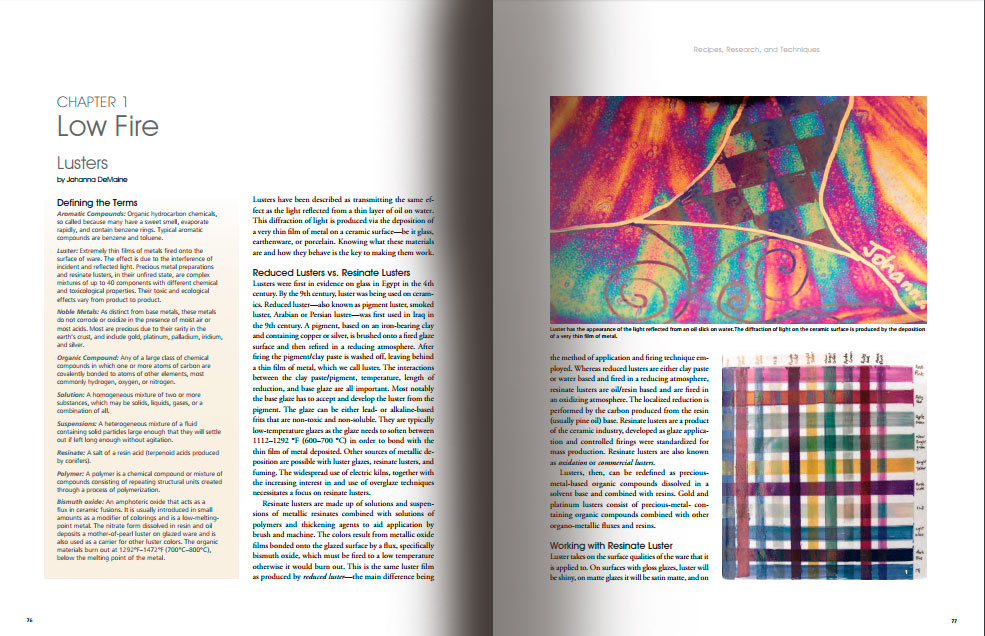 Páginas interiores del libro -Ceramics Monthly's Guide to Materials & Glazes