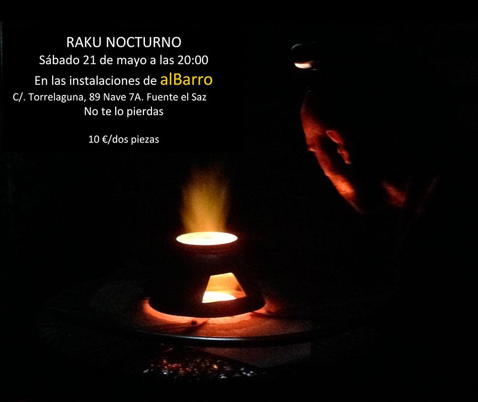 Cartel de la cocción de Raku nocturno