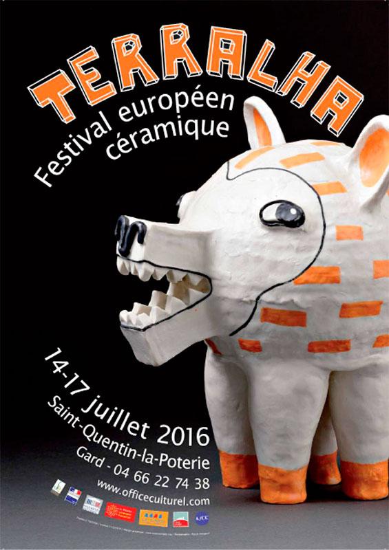 Cartel del festival de cerámica Terralha 2016