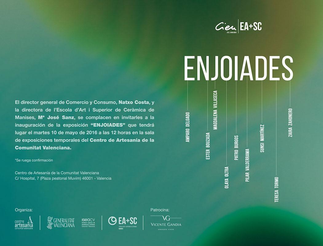 Cartel de la exposición Enjoiades
