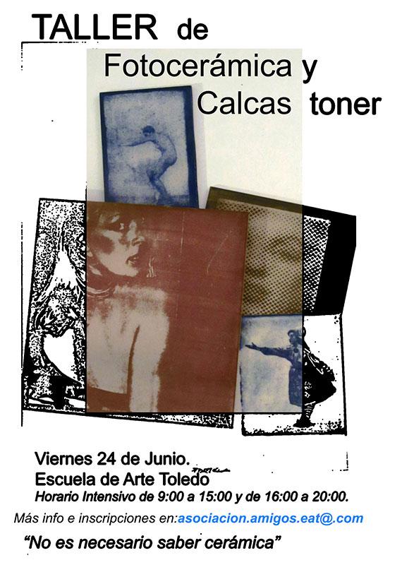Cartel del curso de Antonio Portela en la Escuela de Arte de Toledo