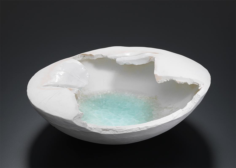 Pieza de cerámica de Machiko Ogawa
