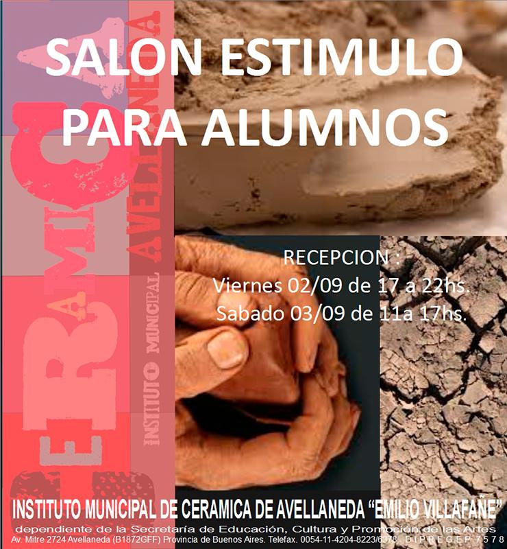 Caertel del Salón de cerámica de Avellaneda, Argentina