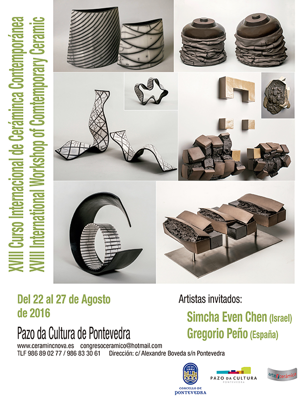 cartel del XVIII Curso Internacional de Cerámica Contemporánea de Pontevedra