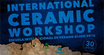Cartel de los cursos de verano del -International Ceramic Workshop-