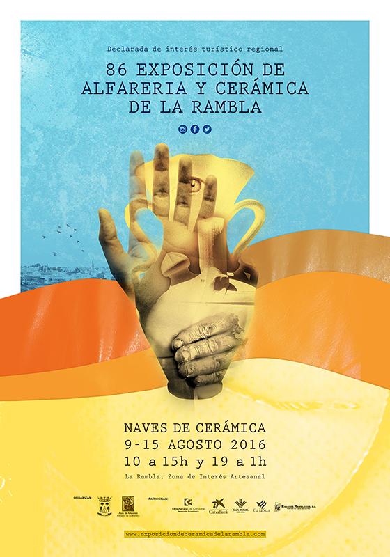 Carrtel de la exposición de cerámica de La Rambla