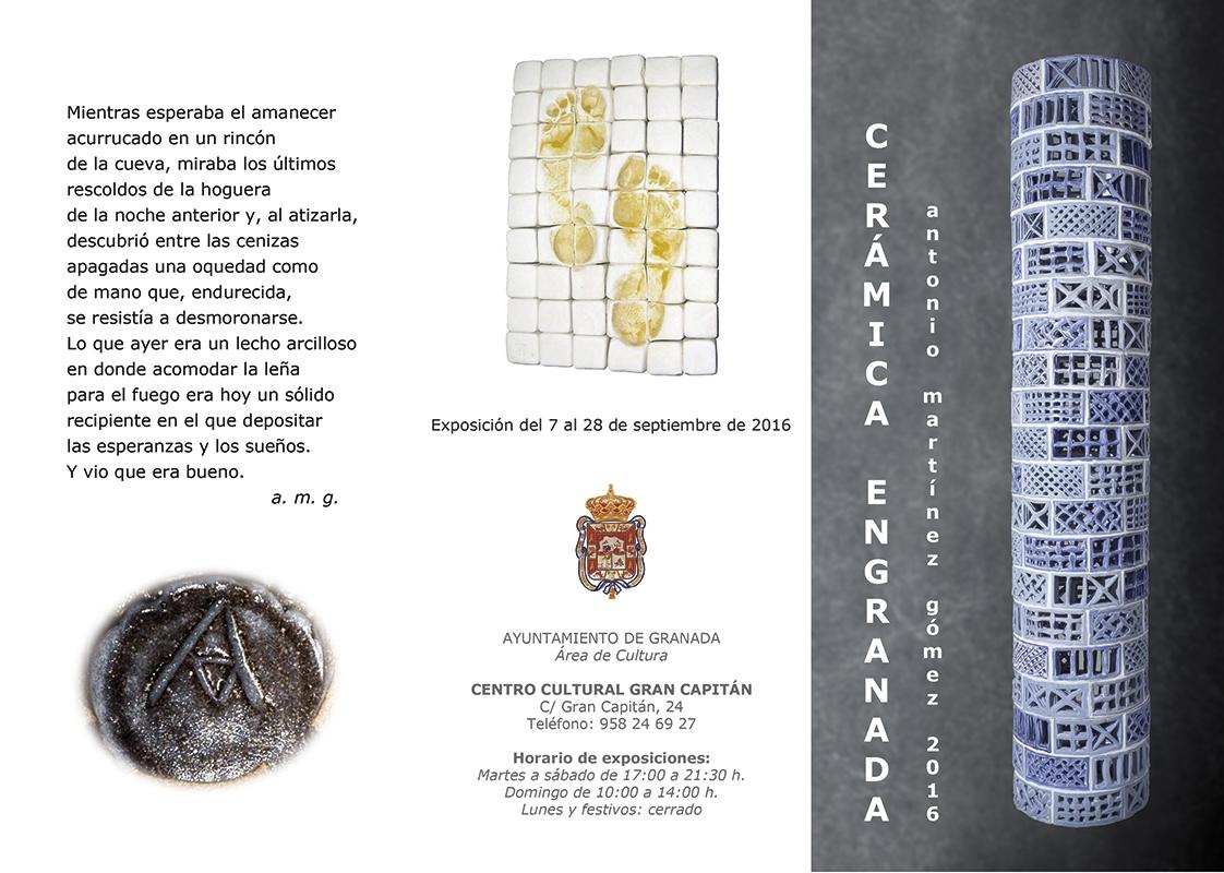 Cartel de la exposición de Antonio Martínez