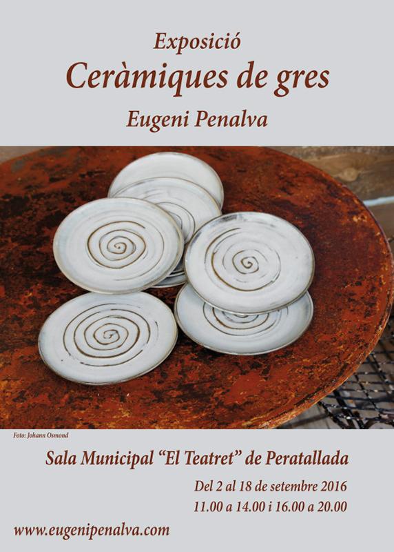 Cartel de la exposición de Eugeni Penalva