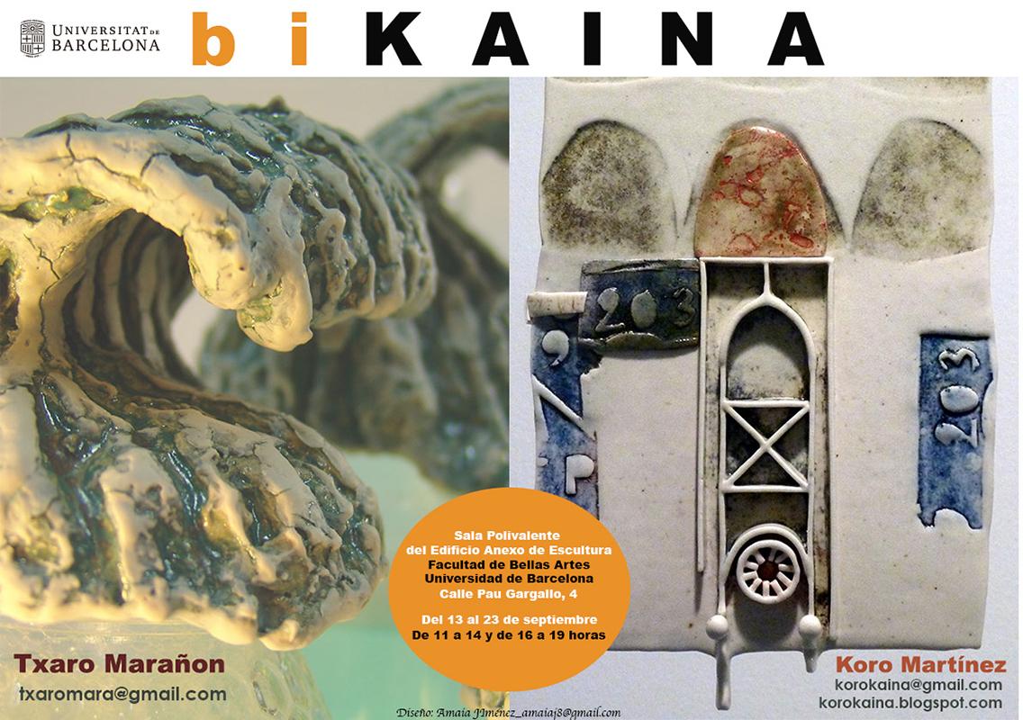 Cartel de la exposición de Txaro Marañon y Koro Martinez