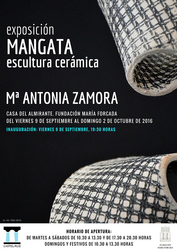 Cartel de la exposición de M. Antonia Zamora