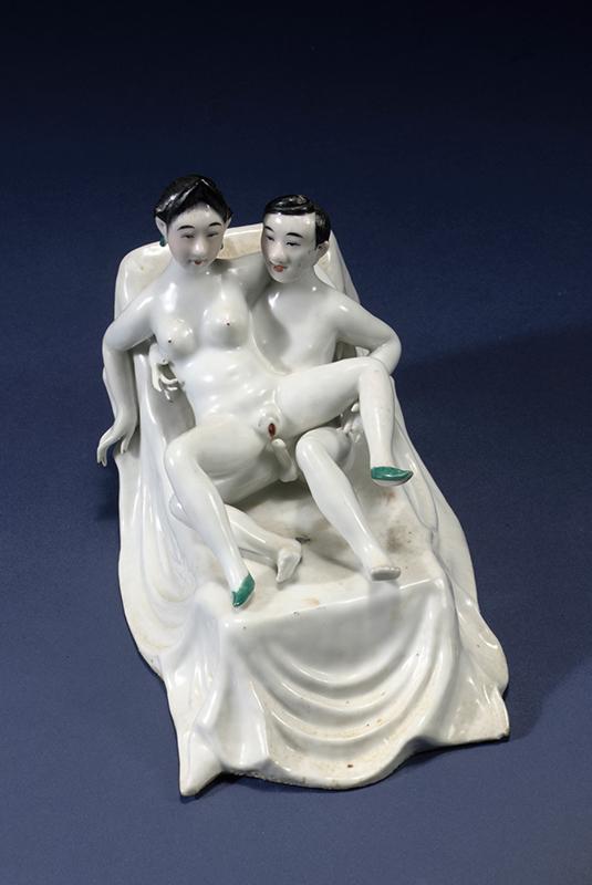 pareja de amantes en porcelana