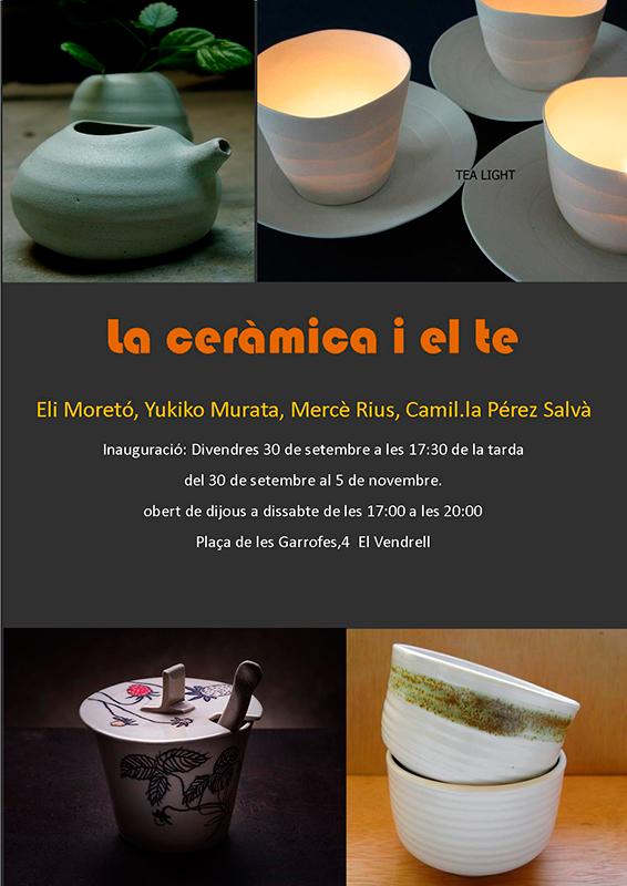 cartel de la exposicion en la Galería Camil.la Pérez Salvà