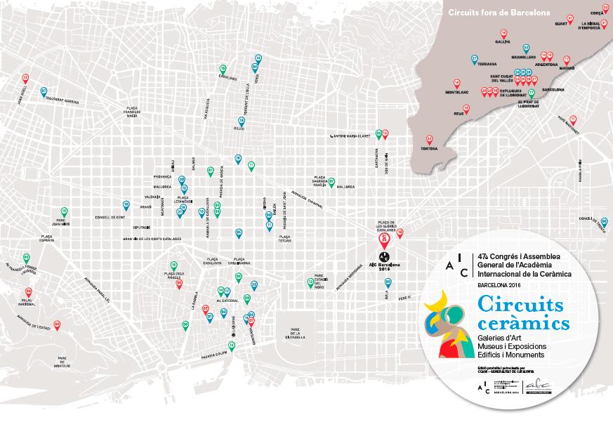 mapa de exposiciones del Congreso de la AIC