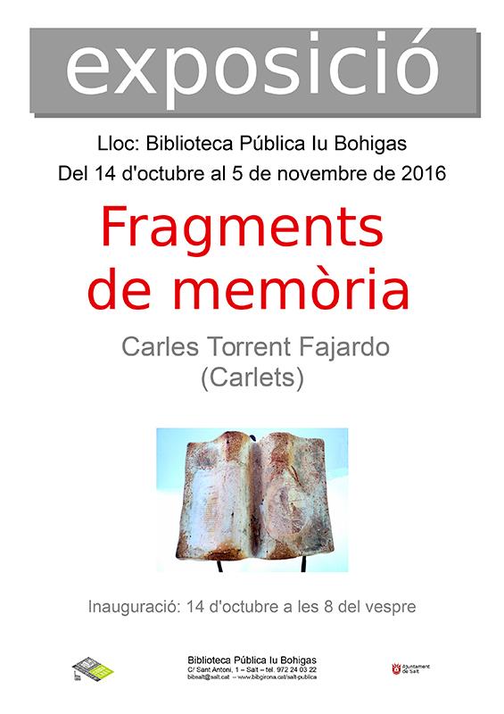 cartel de la exposición de Carlets Torrent
