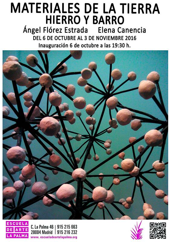 Cartel de la exposición de Ángel Flórez Estrada y Elena Canencia