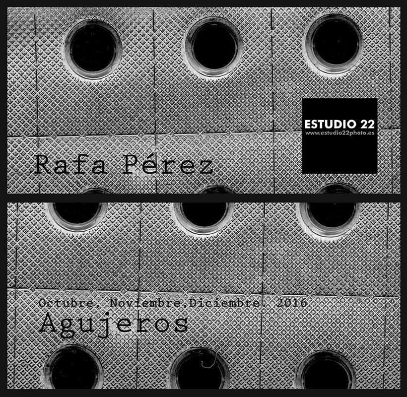 Cartel de la exposición de cerámica de Rafa Pérez