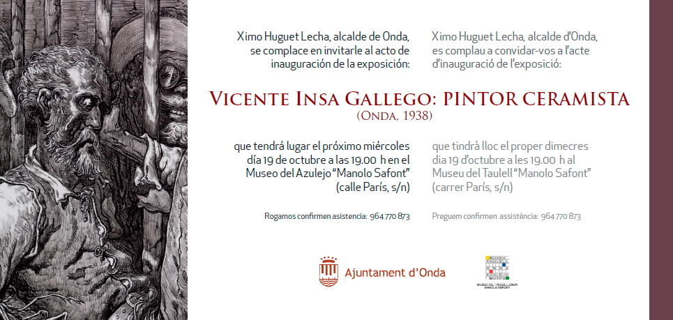 Cartel de la exposición de Vicente Insa