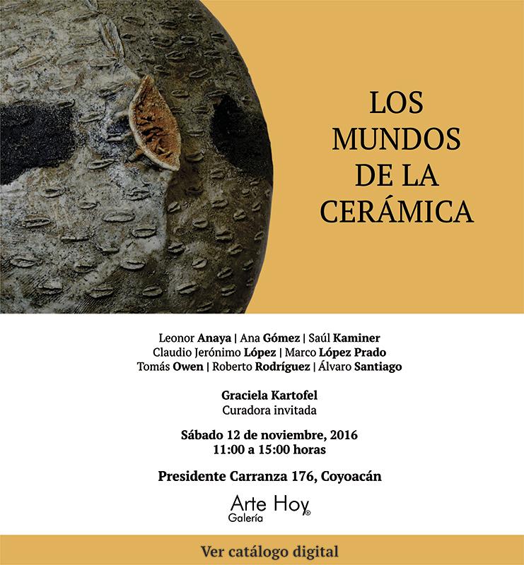 Cerámica en la Galería Arte Hoy, México