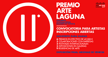 Cartel del Premio Arte Laguna 2016