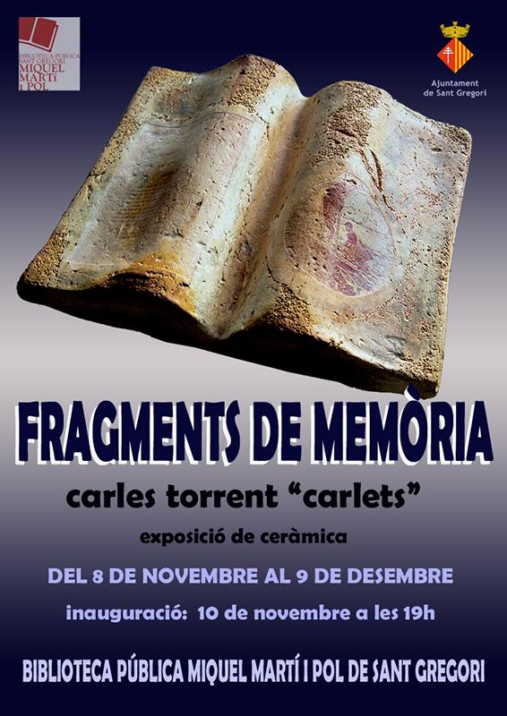 Cartel de la exposición de cerámica de Carles Torrent