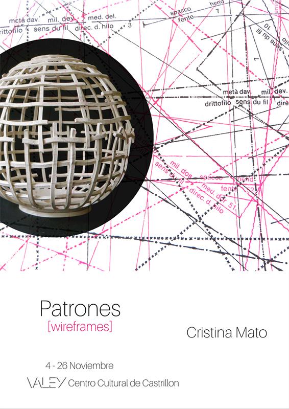 Cartel de la exposición de cerámica de Cristina Mato