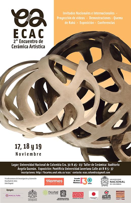 Cartel del Encuentro de Cerámica Artística de Colombia