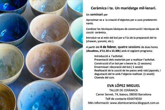 Curso de cerámica y té