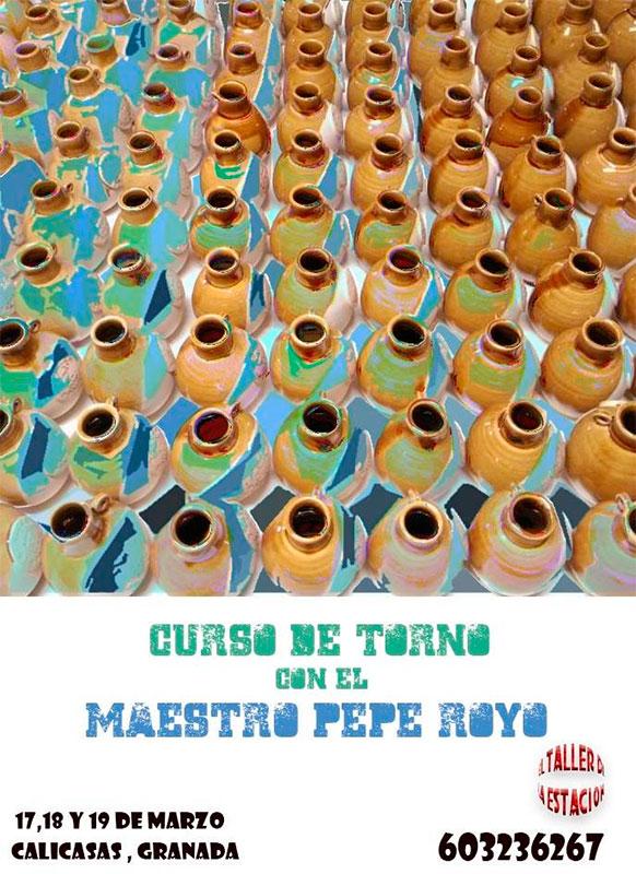 Cartel del curso de cerámica de Pepe Royo