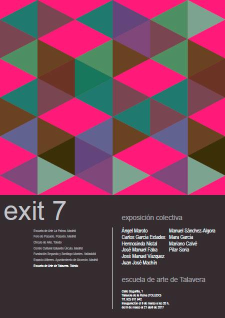 cartel de la exposición Exit