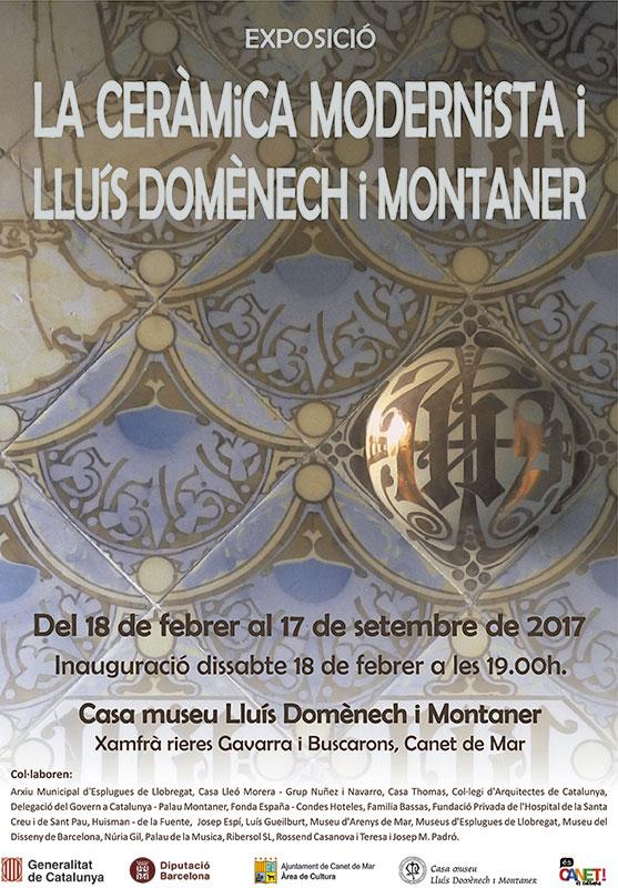 cartel de la exposición de cerámica de Domenech i Montaner