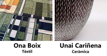 Cartel de la exposición Cerámica y textil
