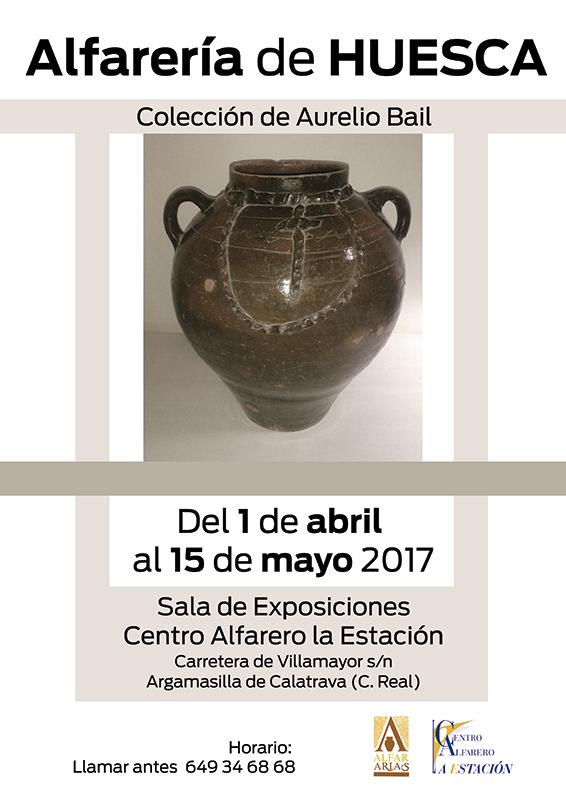 Cartel de la exposición de alfarería de Huesca