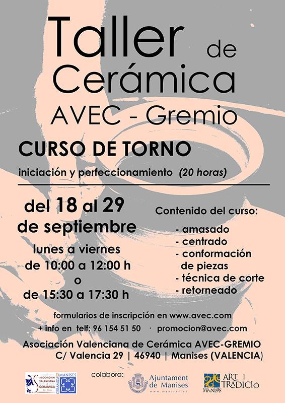 Cursos de cerámica en AVEC-GREMIO