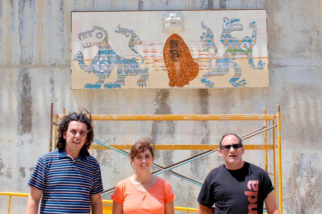 Mural cerámica en Onda