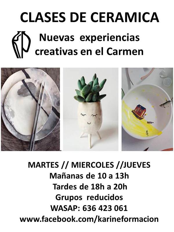 Cursos de cerámica con Karine Pascual