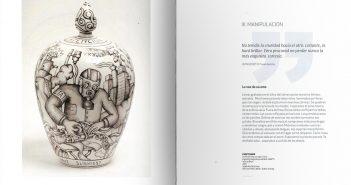 Páginas interiores del catálogo dedicado a la cerámica de Xavier Monsalvatje