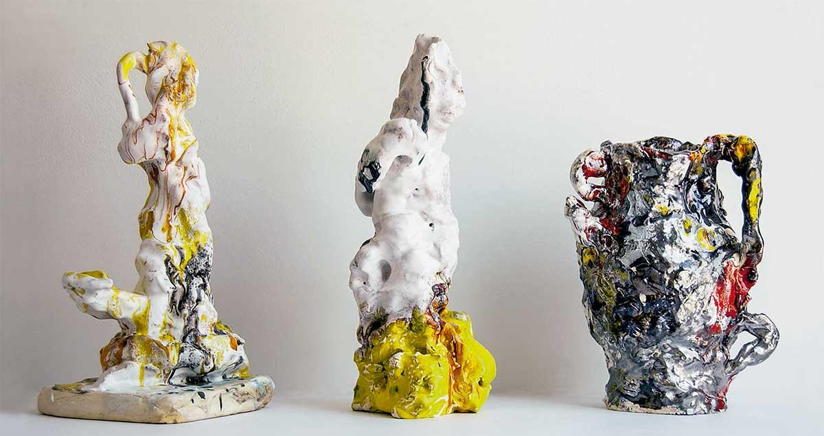 Escultura cerámica de Xavier Toubes