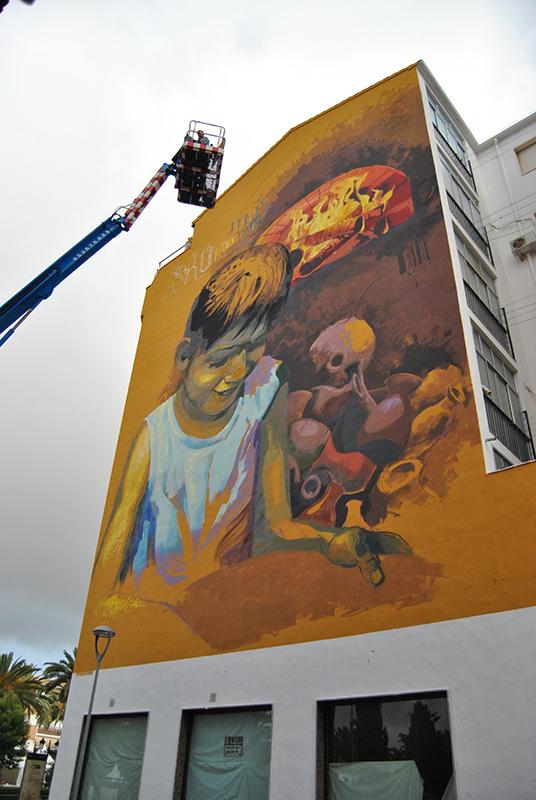 "Obra mural de Raúl Ruiz, del proyecto ""Murales Conciencia"""