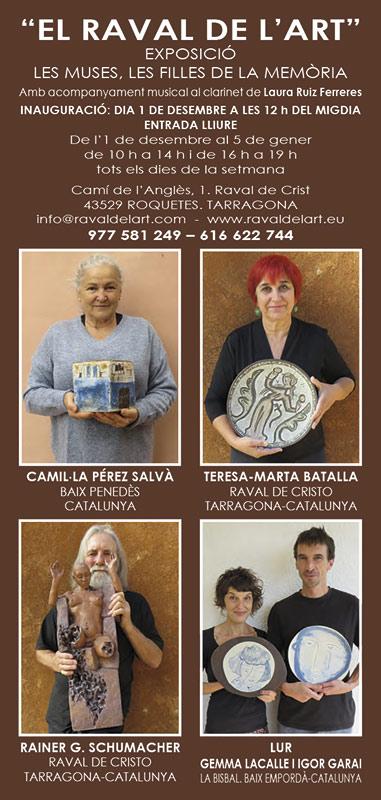 Exposición de cerámica en El Raval de l'Art