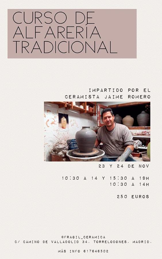 Curso de cerámica con Jaime Romero