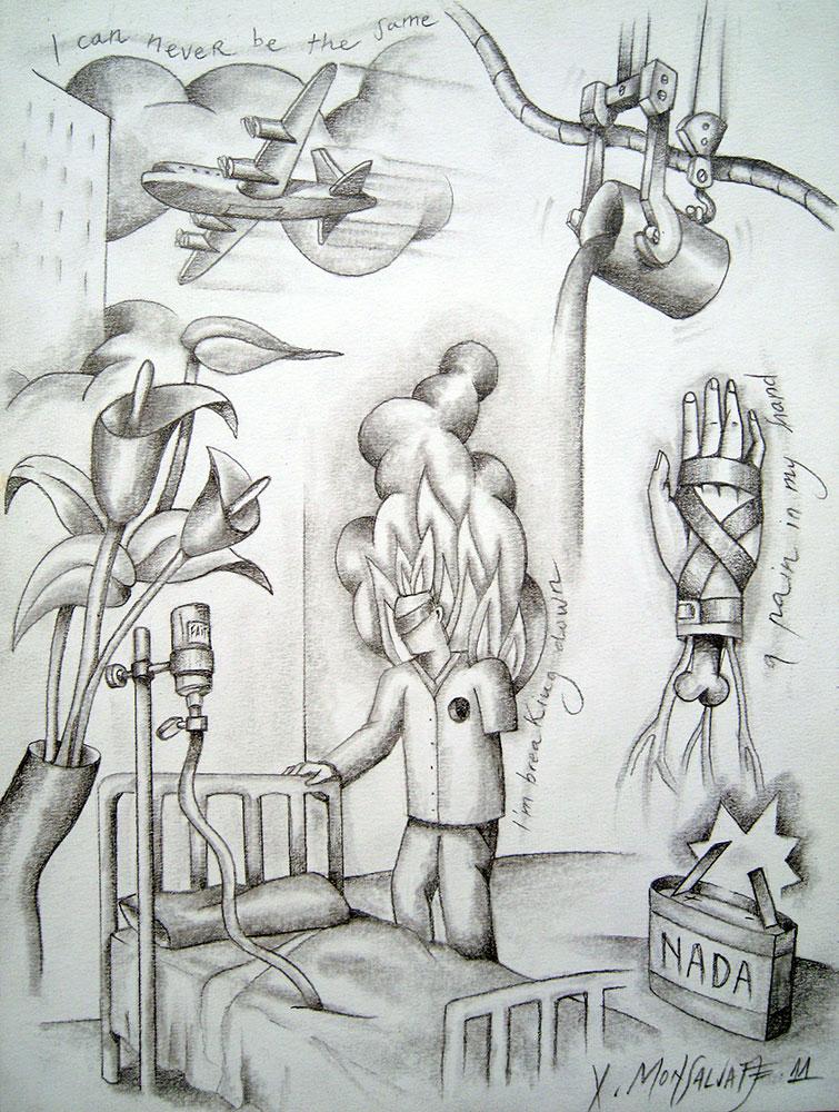 Dibujo de Xavier Monsalvatje