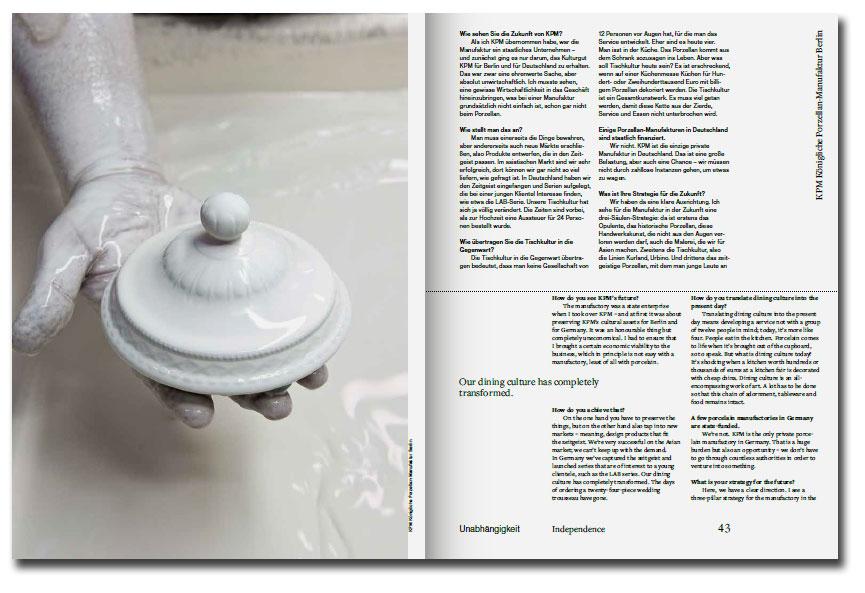 Páginas interiores del libro Handmade in Germany