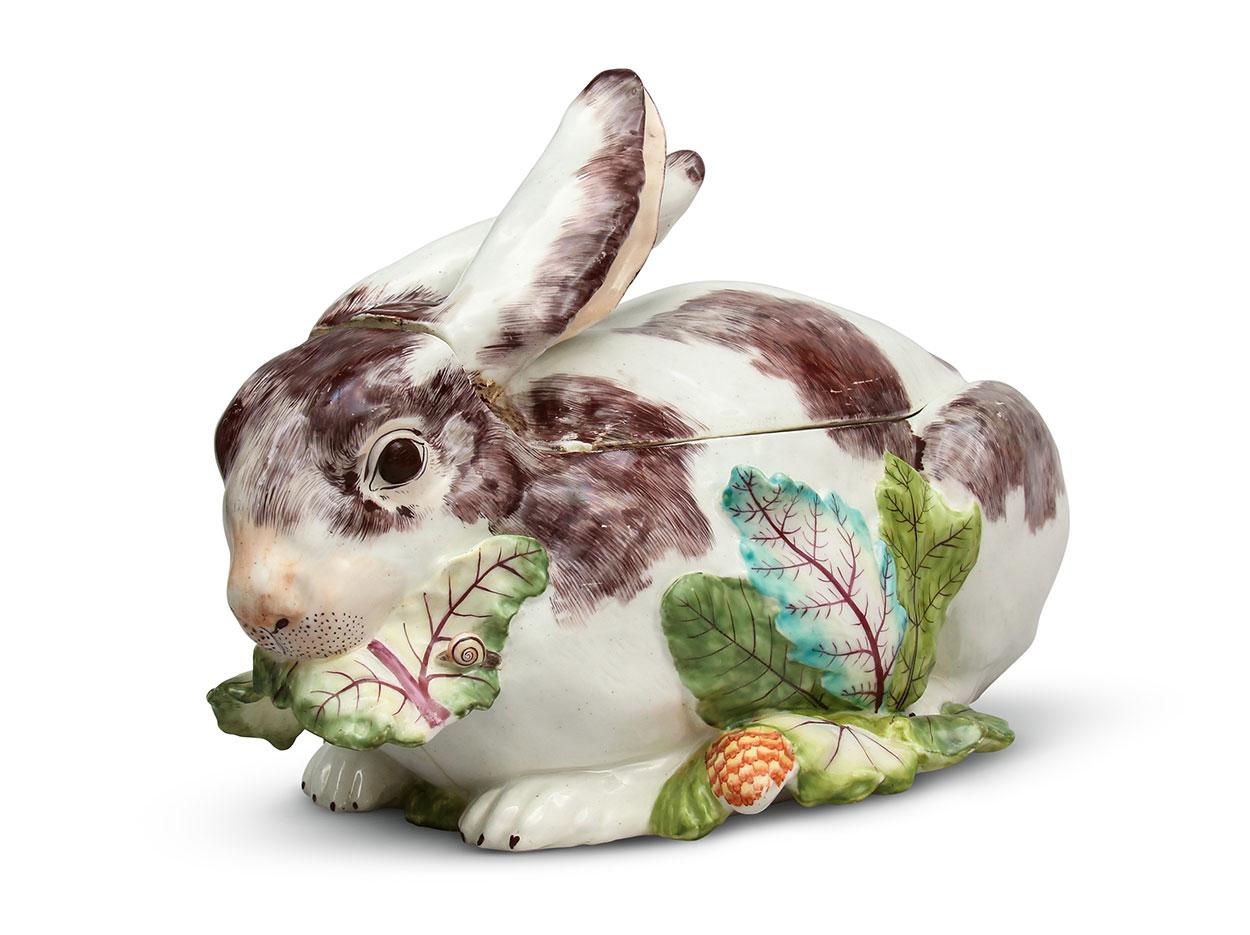 Rabbit tureen, England, Chelsea