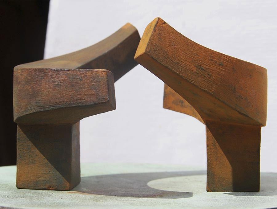 Escultura cerámica de Francisco López